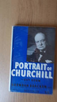 Portrait of Churchill.
