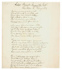 """Autograph Manuscript, signed, fair copy, of the lyrics to """"Silver Threads among the Gold"""""""