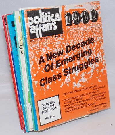 New York: Political Affairs Publishers, 1980. Twelve issues of the journal, a complete run for the y...