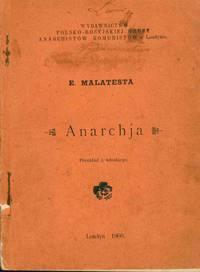 Anarchja: przeklad z wloskiego [Anarchy: translated from the Italian]