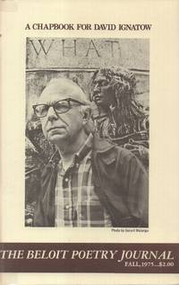 Beloit Poetry Journal: a Chapbook for David Ignatow, the (Vol 26 - No. 1,  Fall 1975)