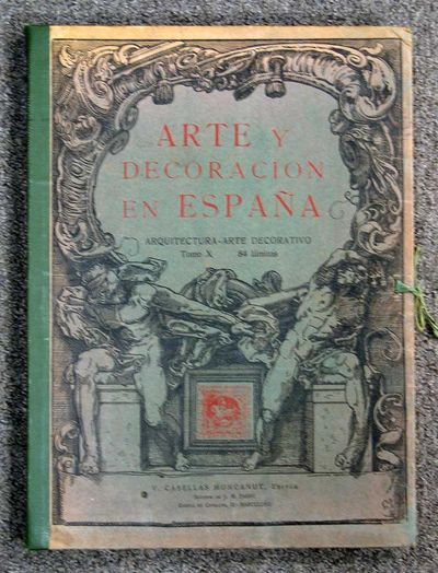 Barcelona, 1927. 1st of this part. Housed in the original portfolio: green cloth spine with grey pri...