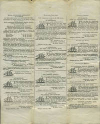 image of Printed letter sheet sent in 1834 with maritime advertising