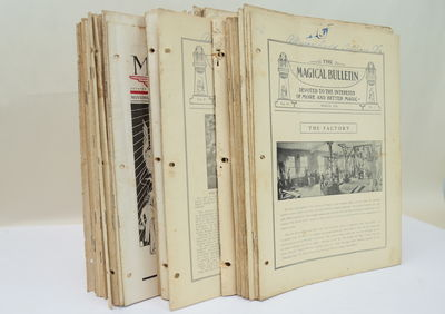 Los Angeles: F. G. Thayer, 1923. A substantial group of The Magical Bulletin, which was issued by th...