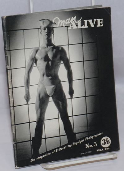 London: Man Alive Pub, 1959. Magazine. 40p. including covers, 5.5x7.25 inches, gravure printed b&w p...