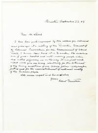 Autograph Letter Signed [ALS] Denouncing Racial Segregation