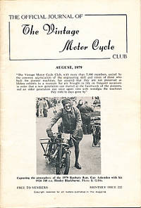 The Official Journal of the Vintage Motor Cycle Club. August 1979. Monthly Issue 222