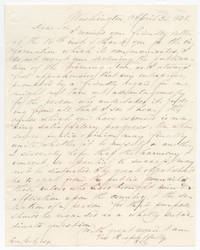 [AUTOGRAPH LETTER, SIGNED, FROM HENRY CLAY AS SENATOR TO PUBLISHER GEORGE GETZ, EXPRESSING HOPE THAT THE PUBLIC'S SELECTION OF LEADER DOES NOT LEAD TO DISRUPTION AND ASSERTING THE NEED TO EJECT LEADERS CAUSING DAMAGE TO THE COUNTRY]