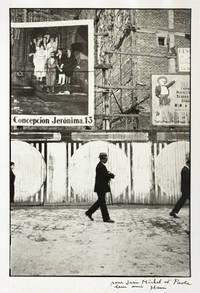 [Photographie originale signée] Madrid, 1933. [Dédicace autographe de Cartier-Bresson à Paola et Jean-Michel Folon]