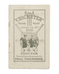 SA 'Cricketer'. Third Test. Adelaide Jan 16th 1925. Souvenir. Records, Photos, Score Sheets Etc....