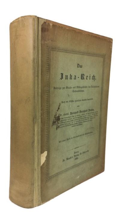 Jena: Fr. Mauke's Verlag, 1885. Hardcover. Good. folding plate, folding map (color), xxxi, 842p. Mod...