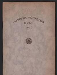 California Writers Club: Poems 1930