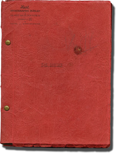 N.p.: N.p.. Draft script for an unproduced film. Former Korean War vet and baseball player and curre...