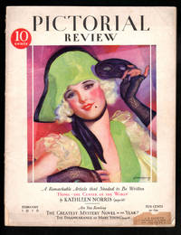 "Pictorial Review - February, 1929. McLelland Barclay Cover; Art Deco, Flapper, Vintage Romance Fiction; ""Why Not A Woman in the Cabinet?"" Editorial; Kathleen Norris; Mary Roberts Rinehart; Margaret Prescott Montague et al. Vintage Paper Doll Page."