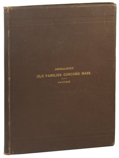 Boston: Alfred Mudge and Son, 1887. Hardcover. Very good. 130pp+ indices. Bookplate on front pastedo...