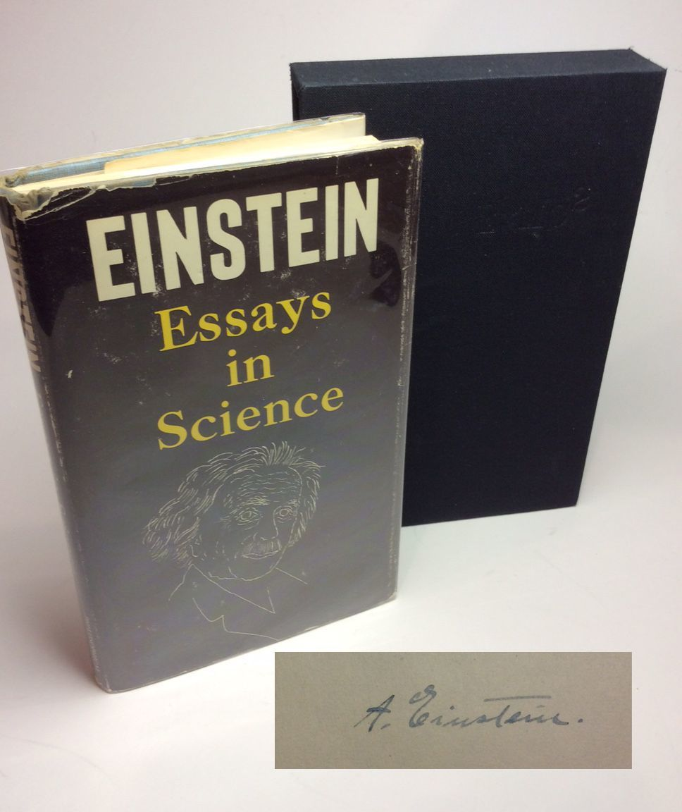 Essays In Science Signed By Albert Einstein  Signed First Edition  Essays In Science Signed
