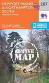 Newport Pagnell and Northampton South (OS Explorer Active Map)