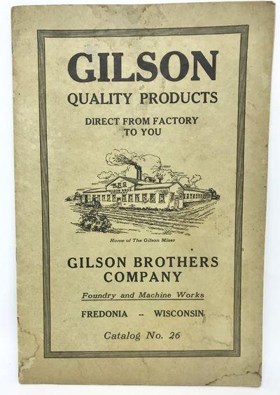 Fedonia, Wisconsin: Gilson Brothers Company, c. 1930. Staplebound. Cream illustrated wraps. Very goo...