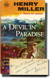 image of A Devil in Paradise (First Edition, inscribed by the author in 1956 to his publisher)