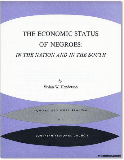 Atlanta: Southern Regional Council, N.d. . First Edition. Quarto (11