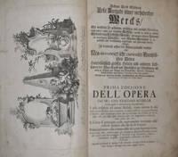 Erste Ausgabe seines vorhabenden Wercks / Prima Edizione dell