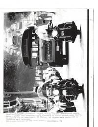 Original Press Photo of Boston Public Schools Enacting Desegregatin through Bussing with police escort