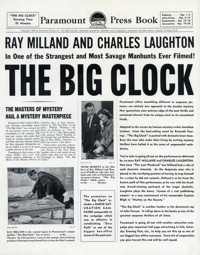 BIG CLOCK, THE (1948) Pressbook
