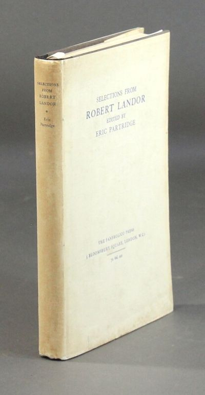 London: Fanfrolico Press, 1927. First edition, 8vo, pp. , 176; purple paper boards backed in black c...