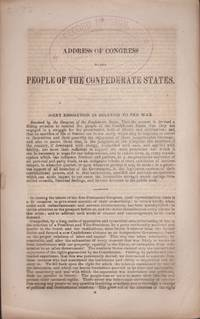Address of Congress to the People of the Confederate States