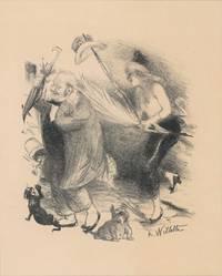 image of Paris Cabaret Scene.  Lithograph