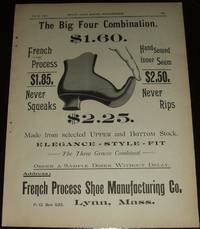 image of Original 1890 Full Page Illustrated Ad for French Process Shoe  Manufacturing Co