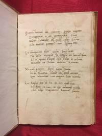 [RENAISSANCE MANUSCRIPT / SONNETS / Canzoniere]. Poesie. Manoscritto antico d'ignoto autore...