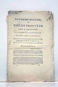 NEUVIEME RECUEIL de pièces trouvées chez M. Delaporte, intendant de la liste...
