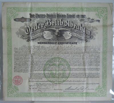 [The Order Brith Abraham Membership...