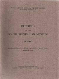 Records of the South Australian Museum Volume VI No 3