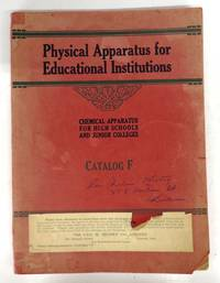Physical Apparatus for Educational Institutions: Chemical Apparatus for High Schools and Junior Colleges