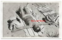 Racy Vintage Photograph of Topless Woman at the Beach [Nude Snapshot]