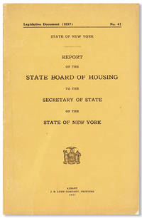 Report of the State Board of Housing to the Secretary of State of the State of New York