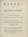 Monody on Major Andrè. . . . To Which are Added Letters Addressed to Her by Major Andrè, in the Year 1769