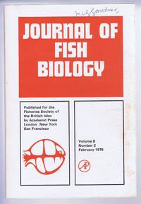 Journal of Fish Biology. Volume 8, Number 2, February 1976