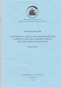 Continental Travel and Journeys beyond Europe in the Early Modern Period: An Overlooked...