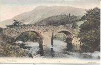 image of Tinted Photo view of Forth Bridge in Aberfoyle, SCOTLAND on Unused Circa 1910s Postcard