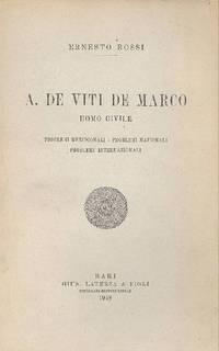 A. De Viti De Marco. Uomo civile