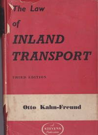 image of The Law of Carriage By Inland Transport