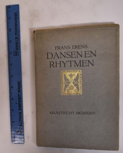 Maastricht, 1924. Paperback. VG- cover and ffep loose from sewn binding, minor discoloration to pape...