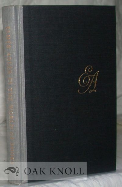 New York: The Grolier Club, 1964. cloth. Adler, Elmer. tall 12mo. cloth. xii, 118 pages. First editi...