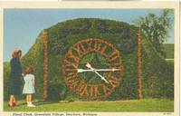 Floral Clock, Greenfield Village, Dearborn, Michigan, unused Postcard