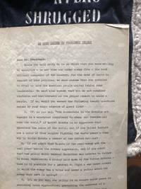 An Open Letter to President Truman: Ayn Rand Signed Letter during Atlas Shrugged