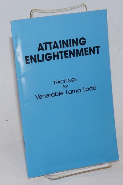 San Francisco: KDK Publications, 1987. iv, 25p., staplebound booklet, light handling wear. Teachings...