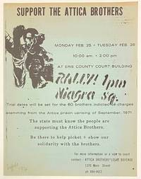 image of Support the Attica Brothers [handbill]